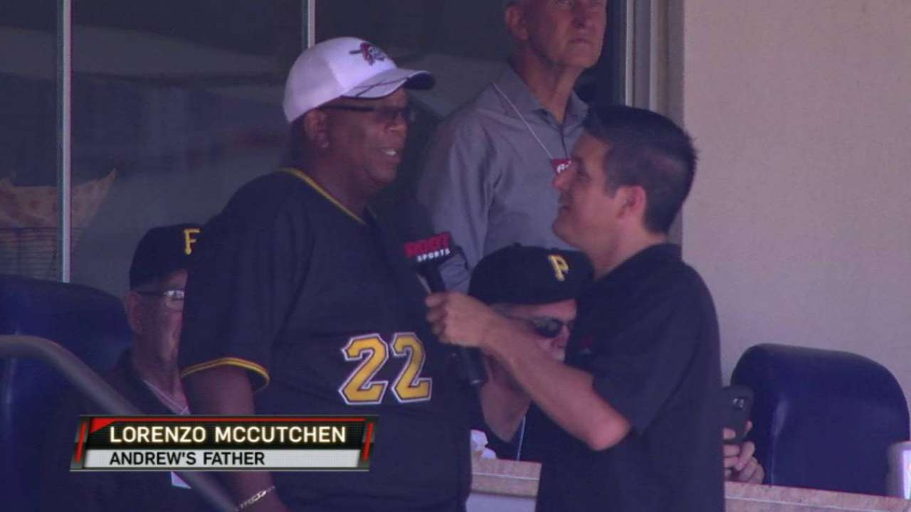 Family ties: Pirates' dads visit on annual trip