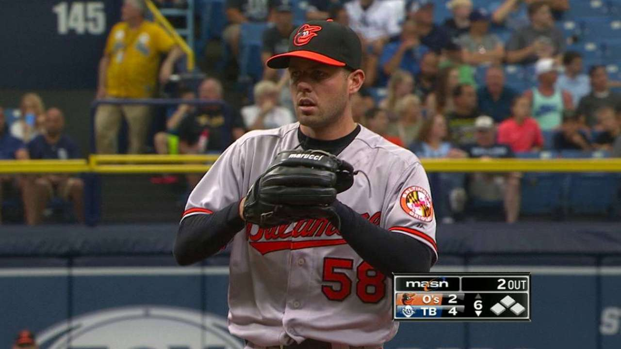 Hart's first MLB strikeout