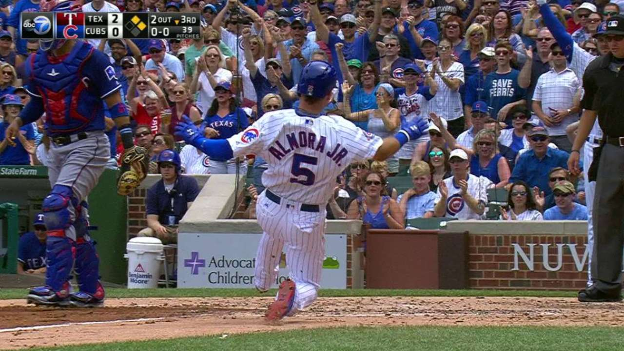 Baez's RBI double in the 3rd