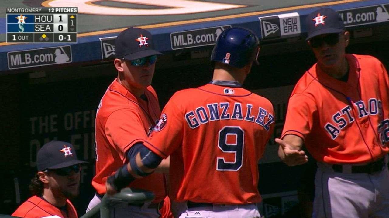 Gonzalez scores on an error