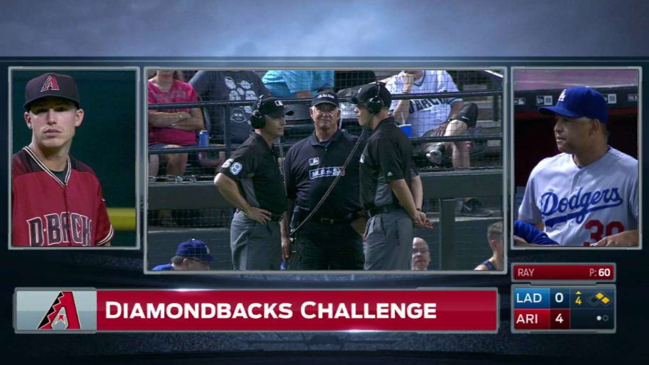 D-backs challenge call at second