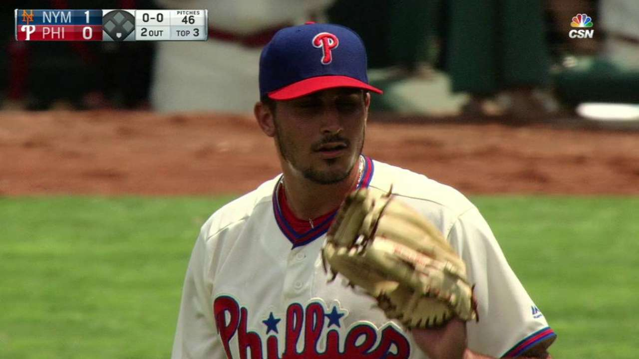 Eflin overcomes miscues to post quality start
