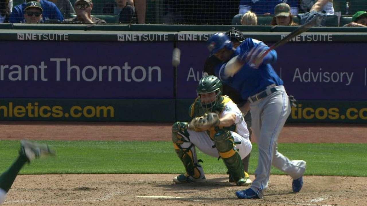 Lake hits one pitch twice