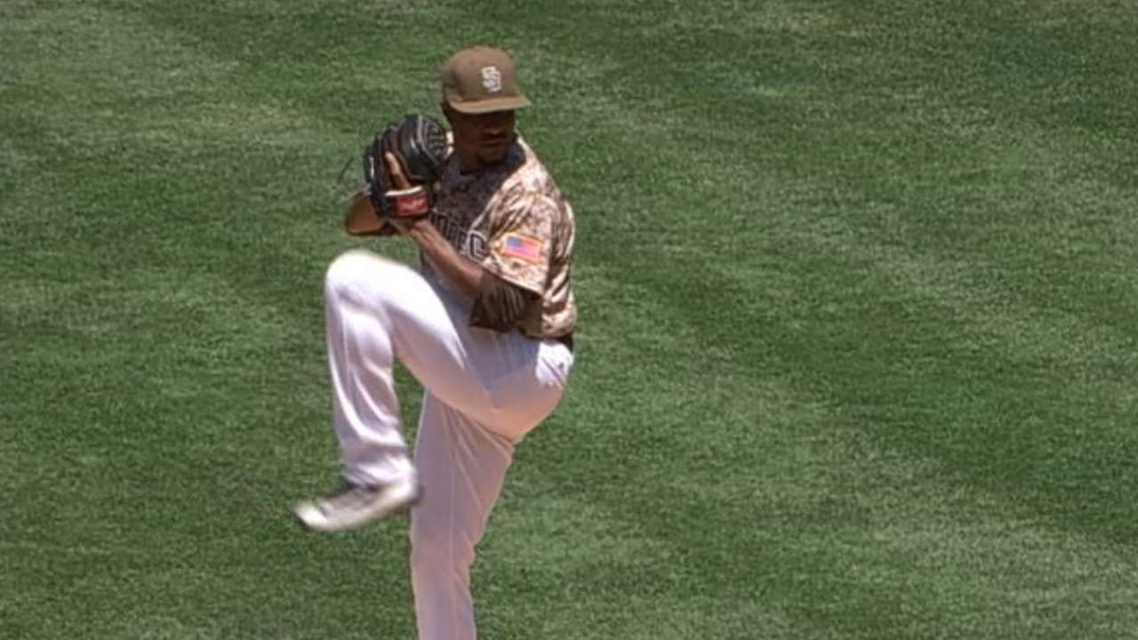 Jackson flirts with no-no as Padres sweep Giants