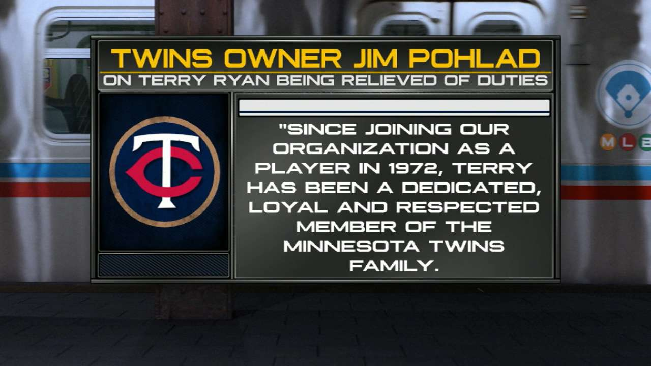 Ryan gave his all in leading Twins as GM
