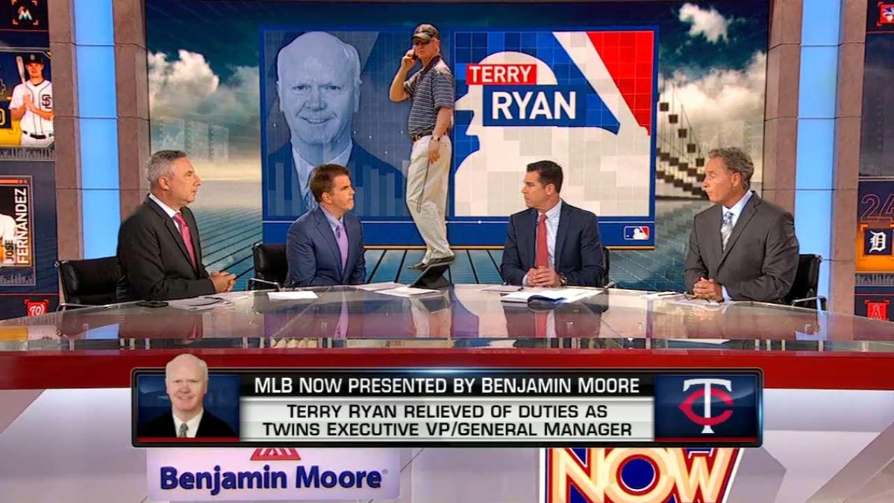 MLB Now: Twins dismiss Ryan