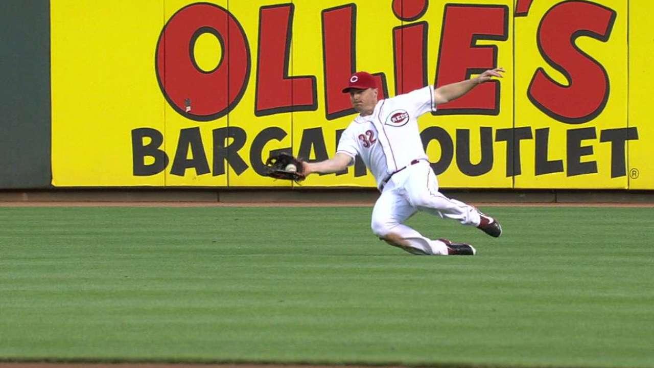 Bruce's slick sliding catch