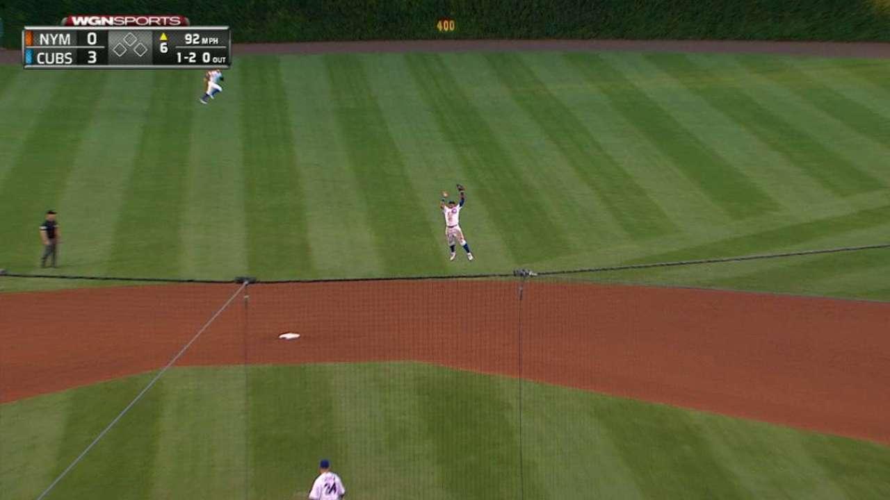 Baez's leaping catch