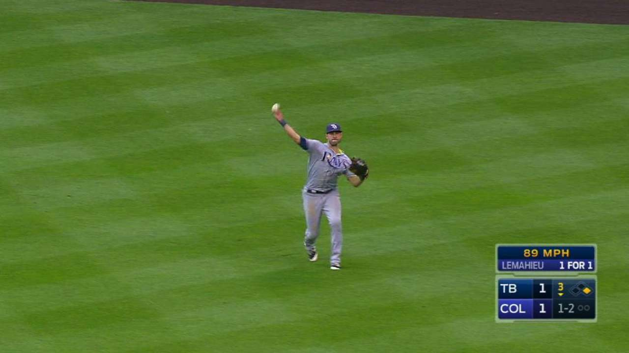 Kiermaier finds Coors Field to his liking
