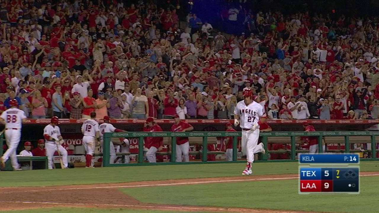 Down four early, Angels storm past Rangers