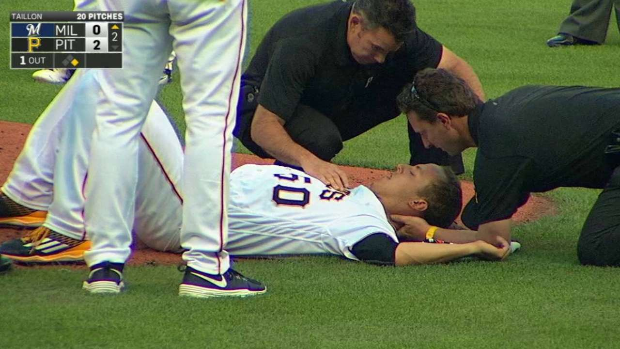 Nelson sympathizes with Taillon after scare