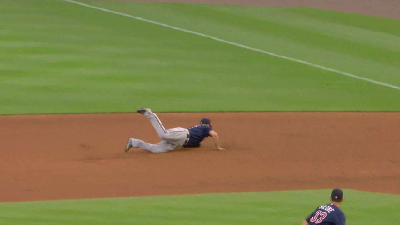 Mauer's diving play