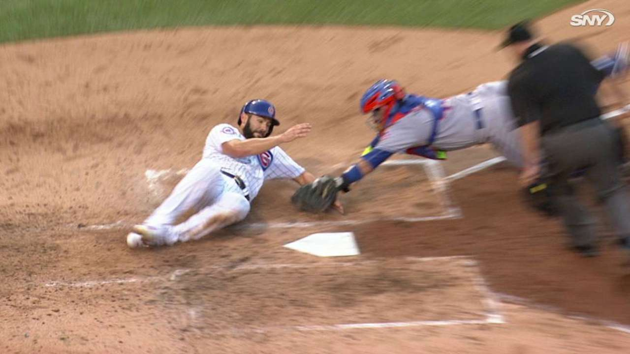Call overturned at the plate