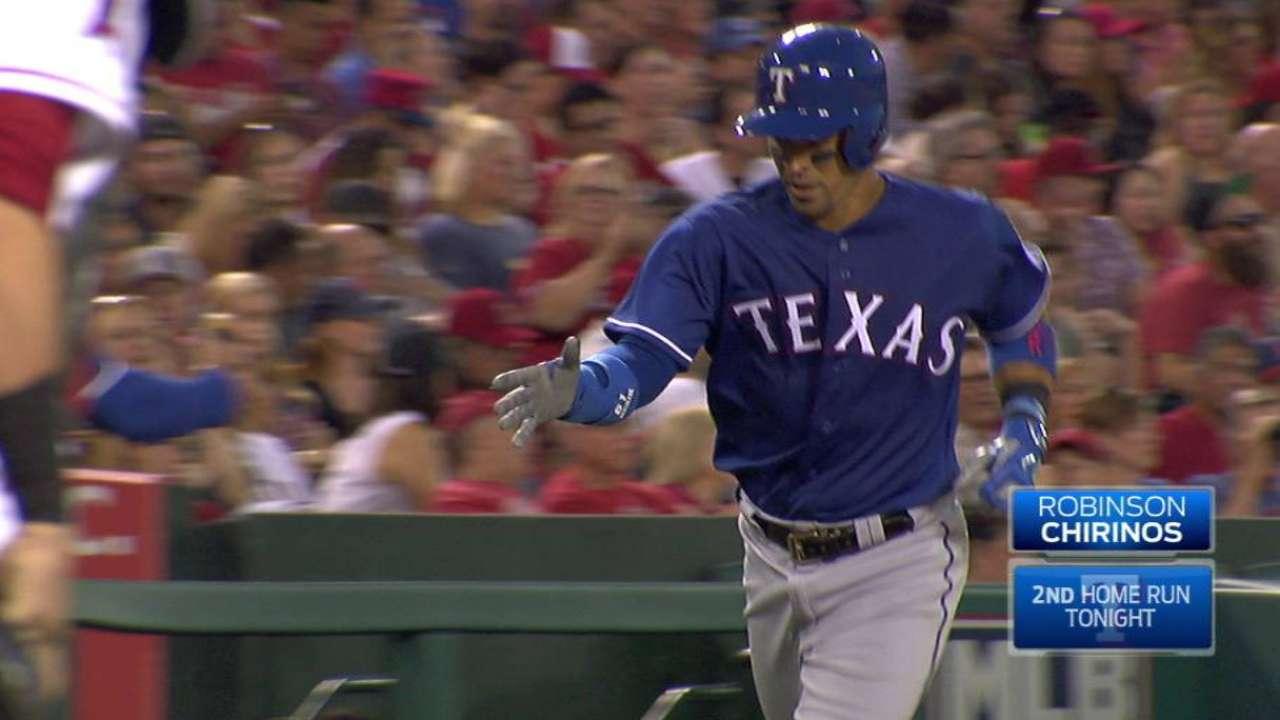 Chirinos' two-run homer to left