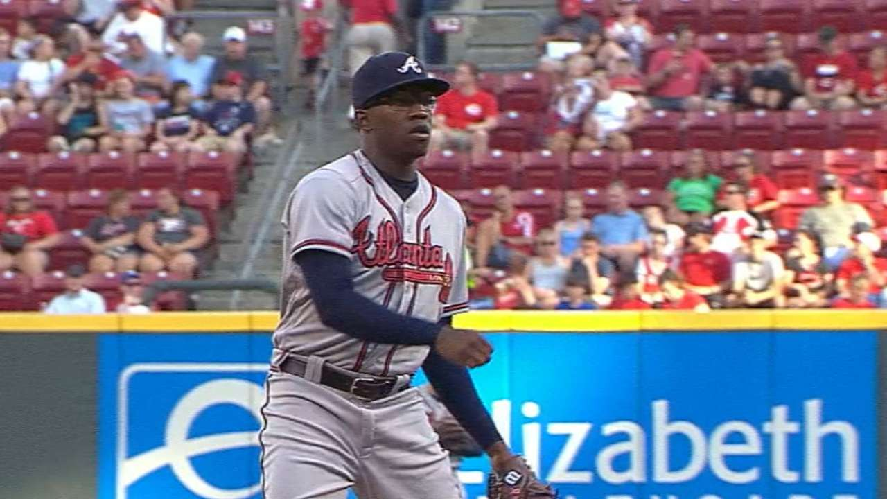Jenkins displays maturity in 2nd start for Braves