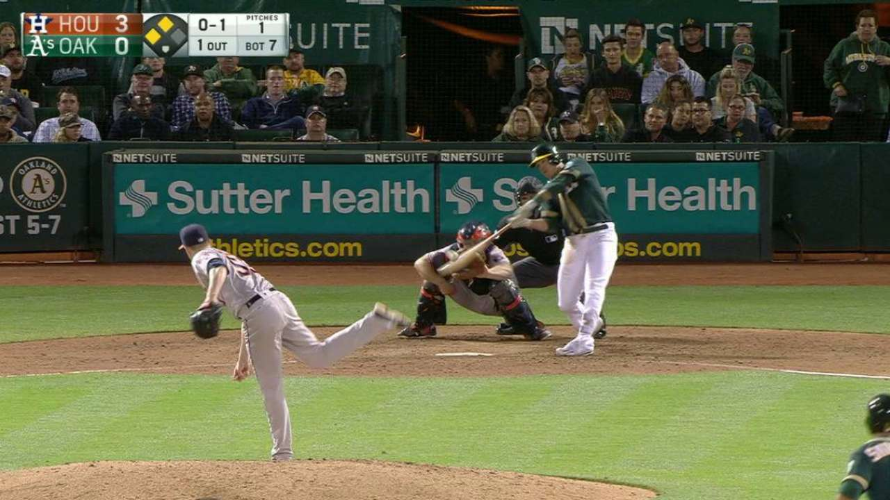 Healy's two-run double