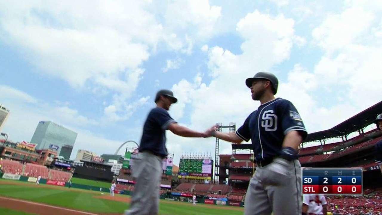 Schimpf's two-run homer