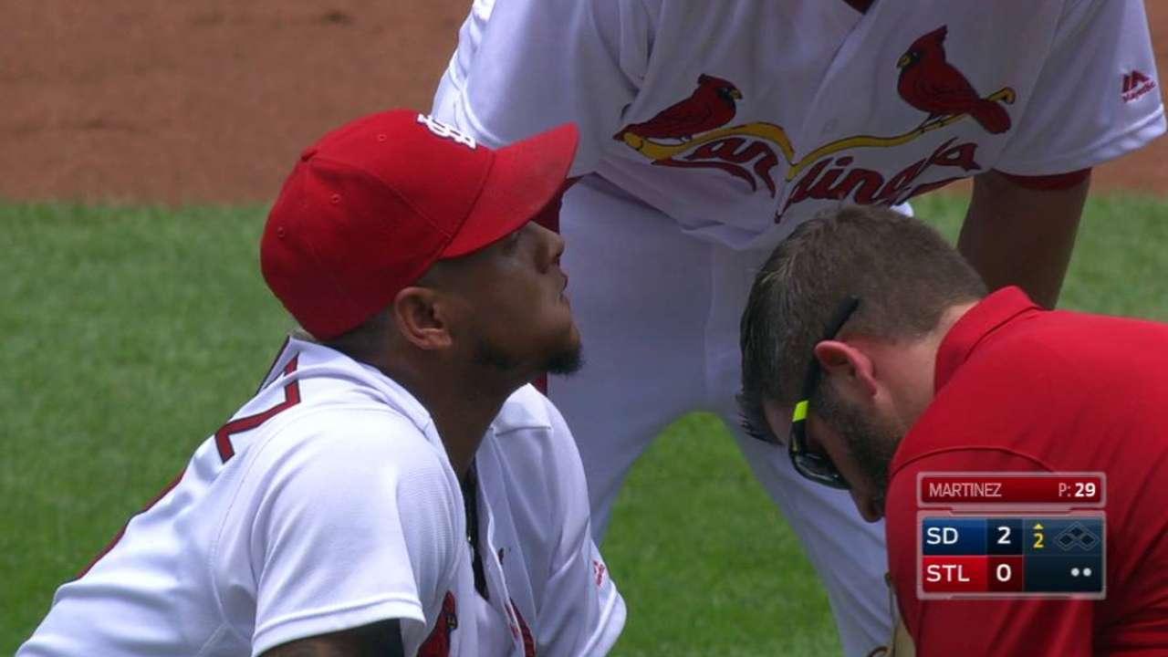 Martinez's nosebleed delays Game 1 of doubleheader