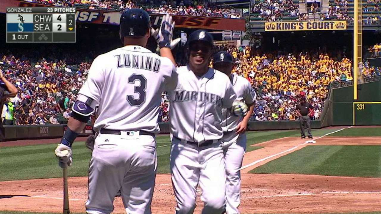 Martin's two-run home run