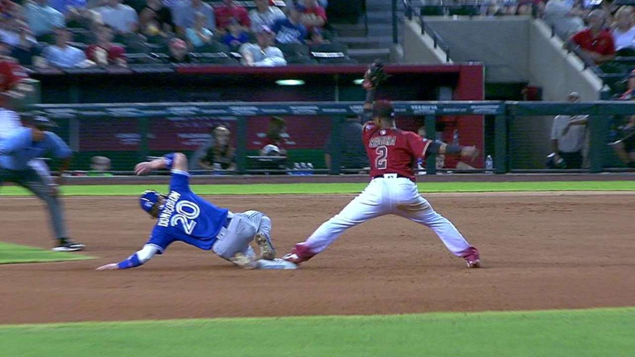 Donaldson safe at second