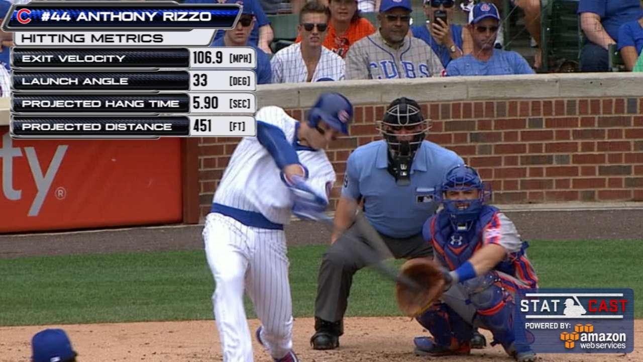 Statcast: Rizzo goes deep twice
