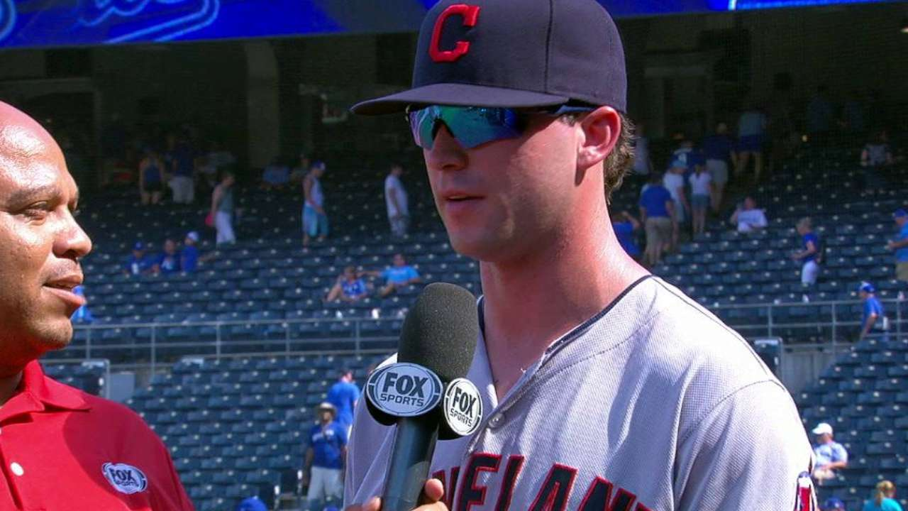 Naquin on career day at plate