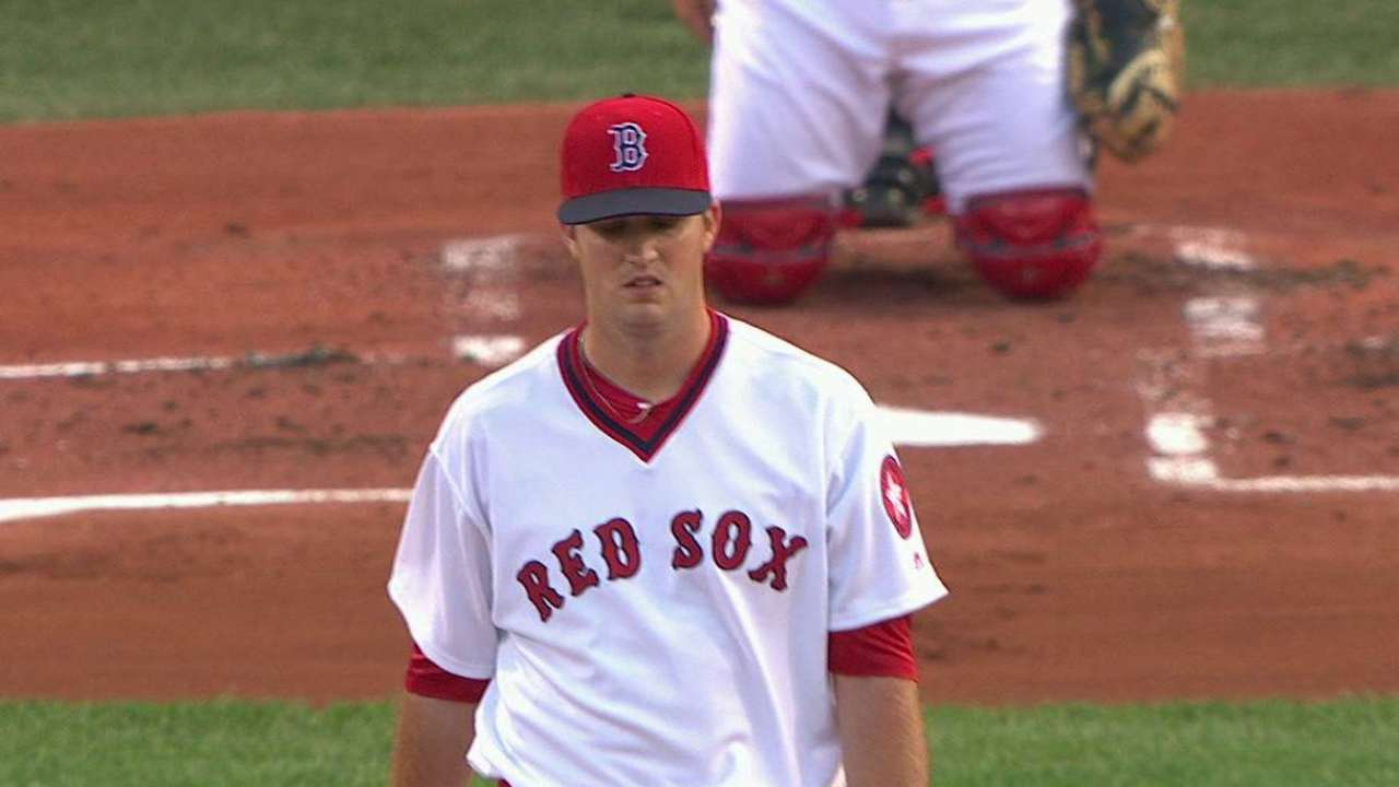 Pomeranz's first K with Red Sox