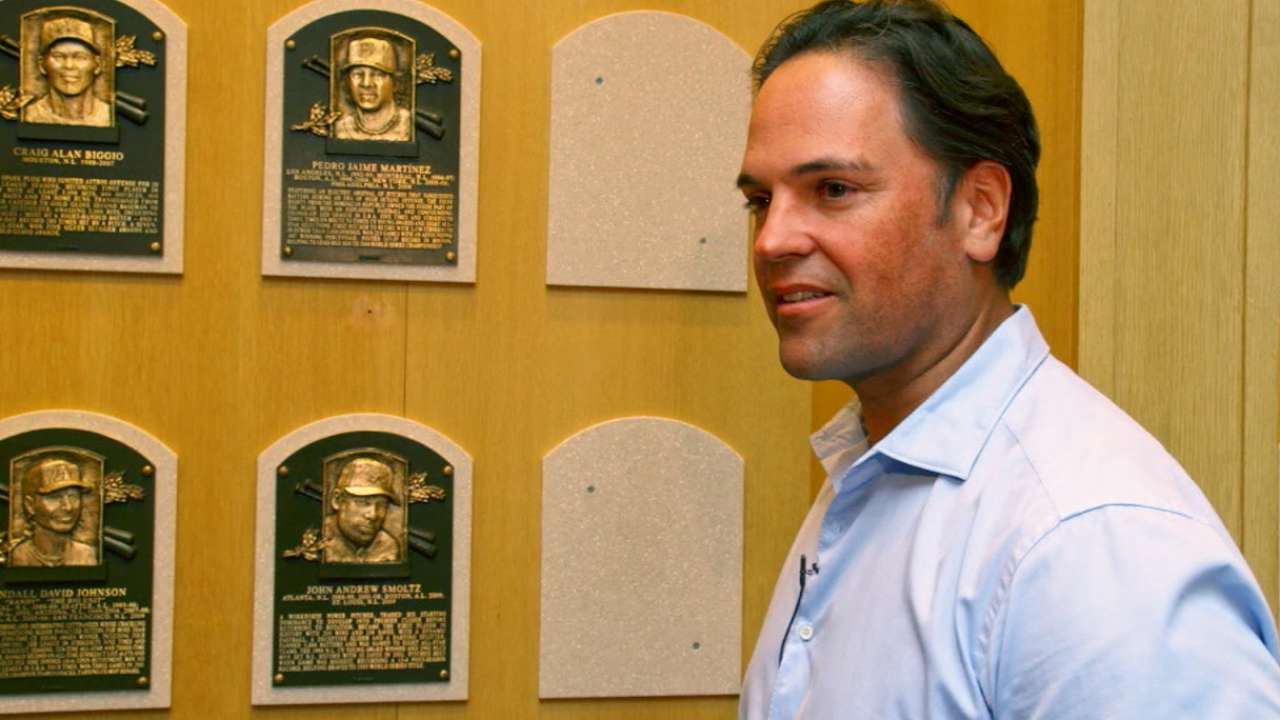 Piazza embracing Cooperstown experience