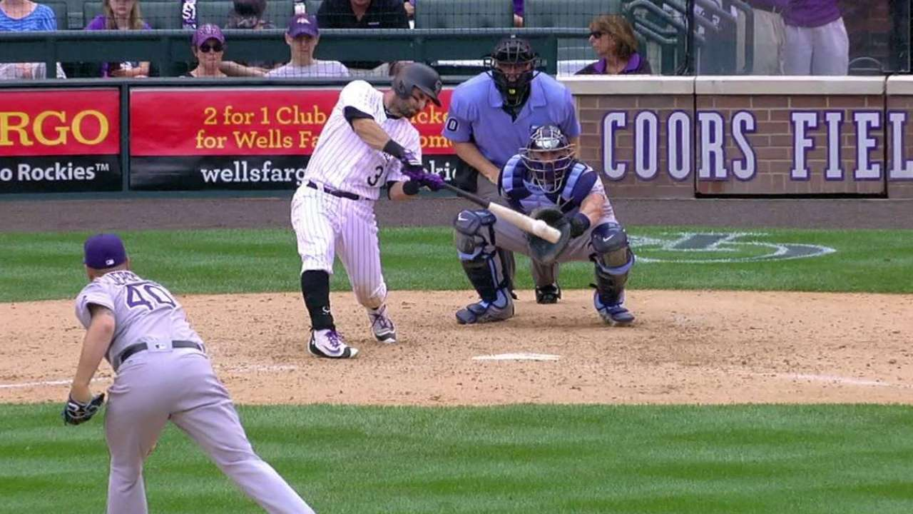 Descalso steady with bat while moving defensively