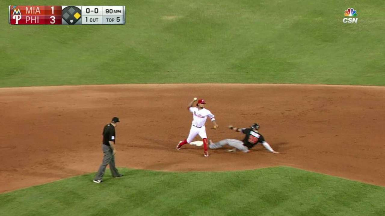 Hellickson starts a double play