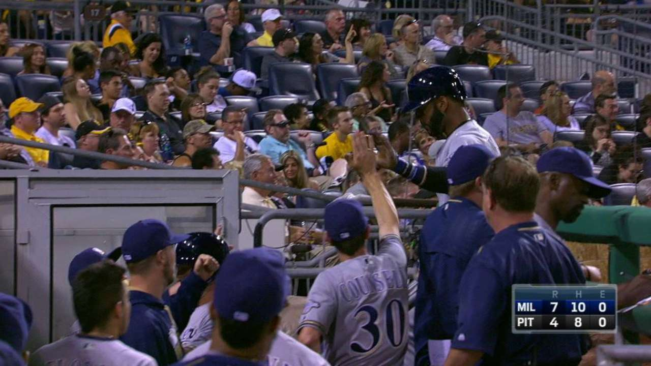 Brewers get best of Bucs in see-saw battle