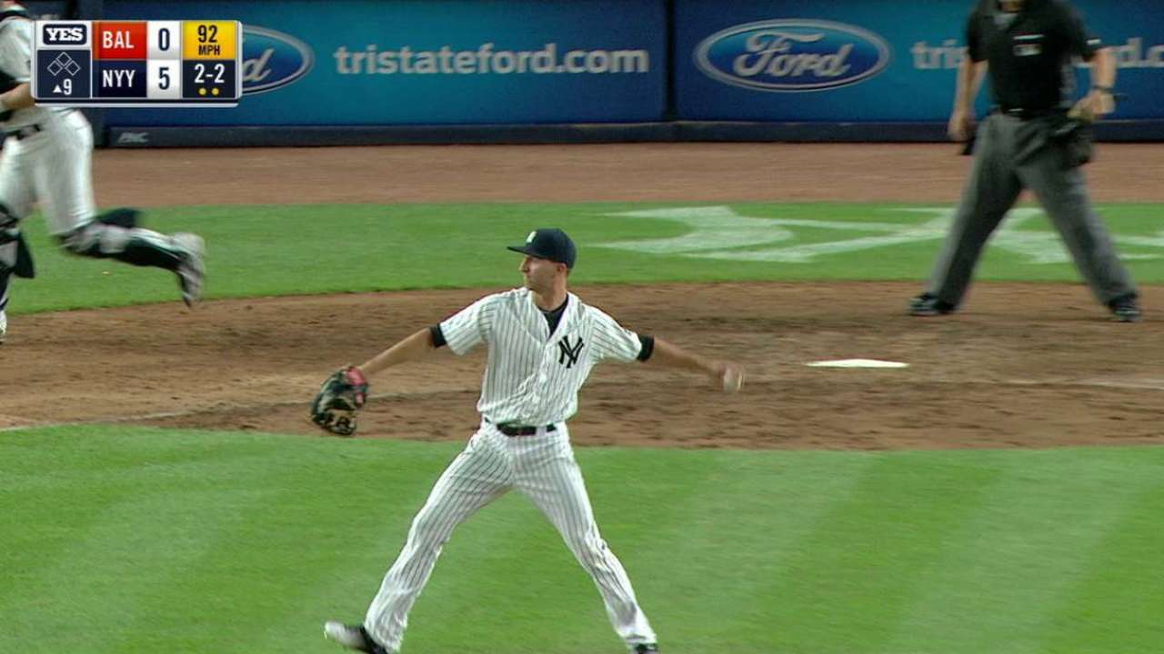 Shreve secures Yankees' shutout