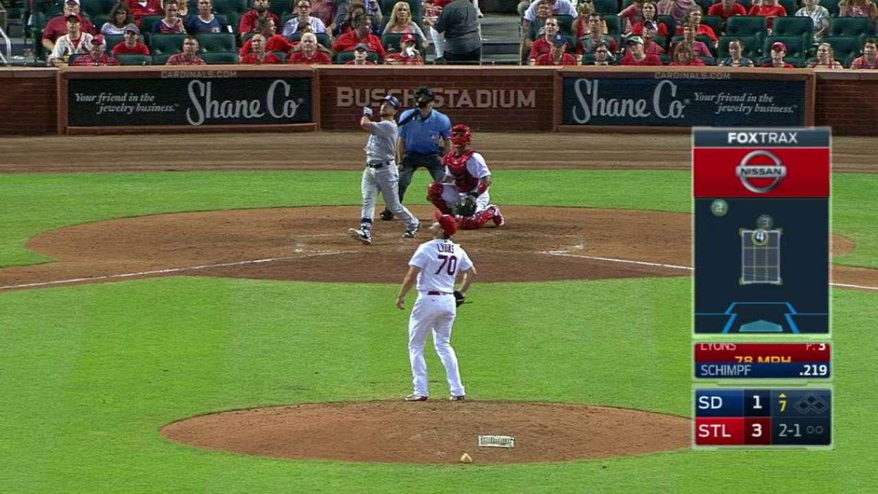Schimpf's solo home run