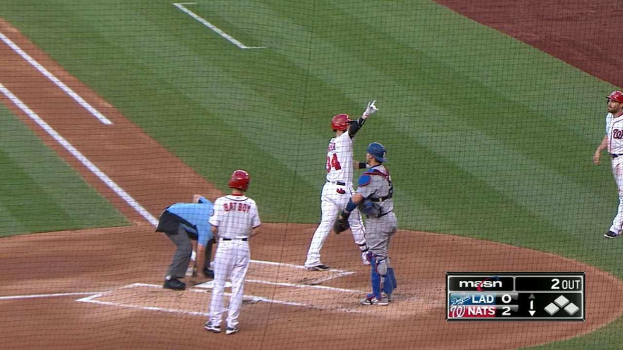 Nacionales hundieron a Dodgers con cuatro jonrones