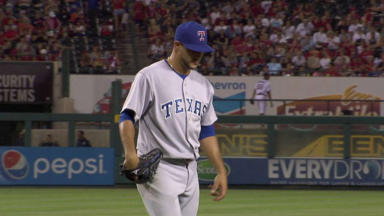Rangers want Perez to face A's on Monday