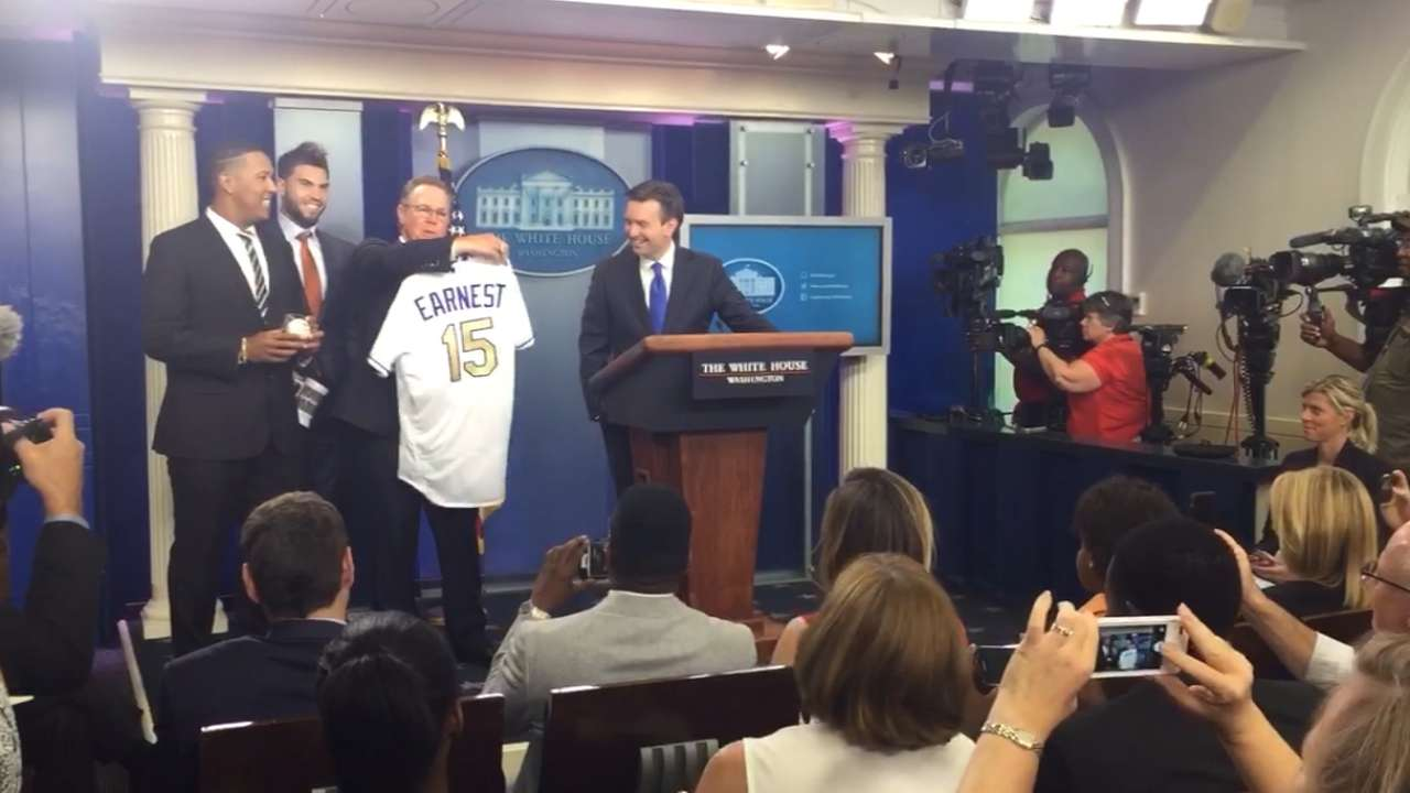 Royals' White House visit special to Earnest