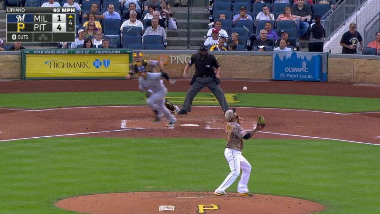 Liriano's quick hands