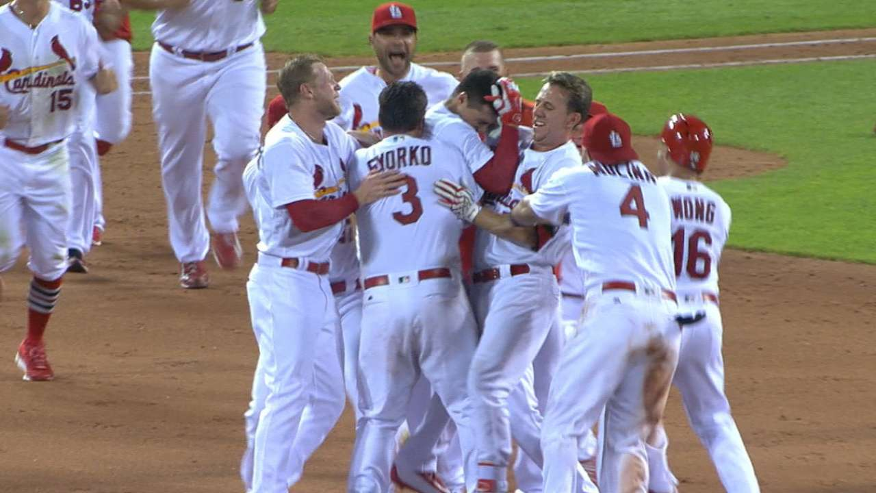 Cards walk off with win, four-game sweep