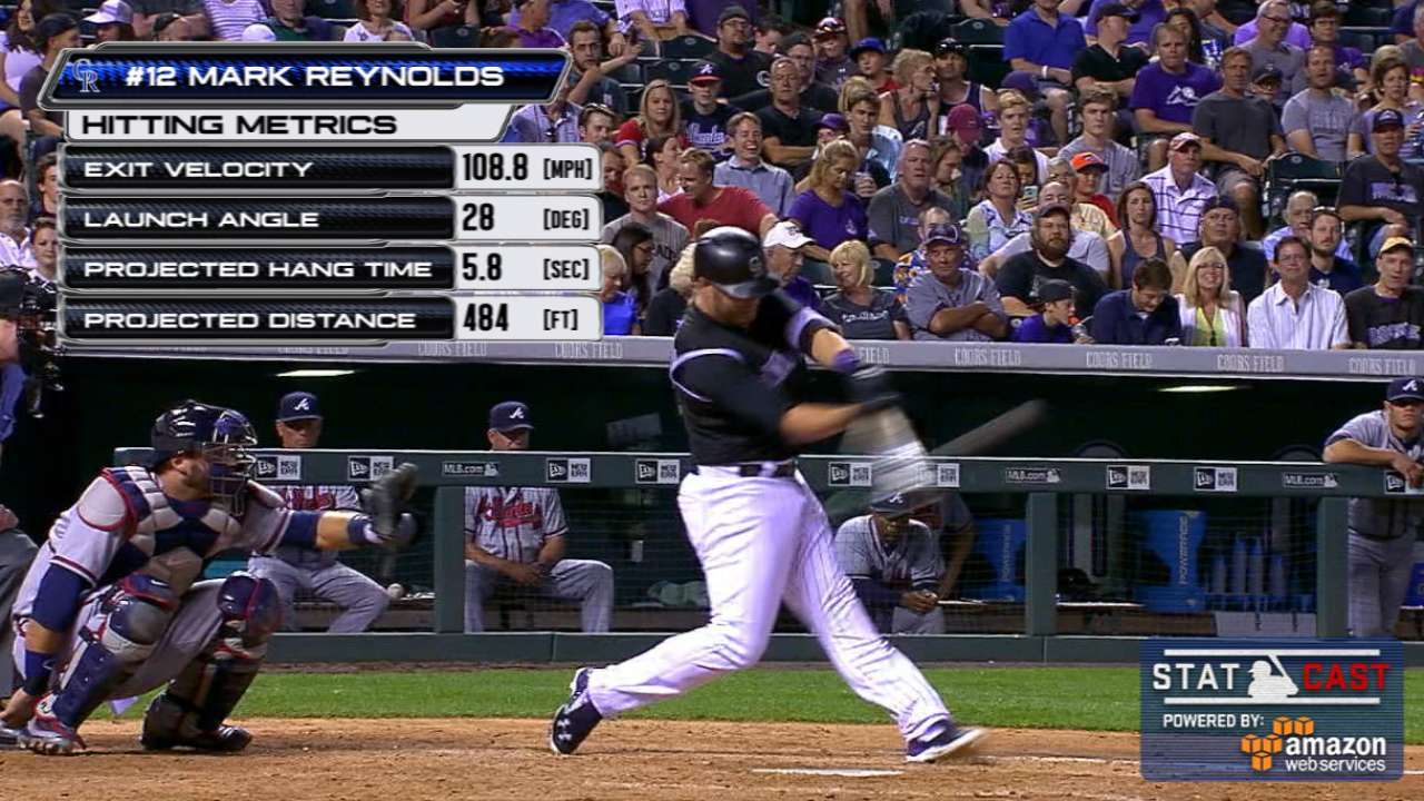 Statcast: Reynolds' 484-foot HR