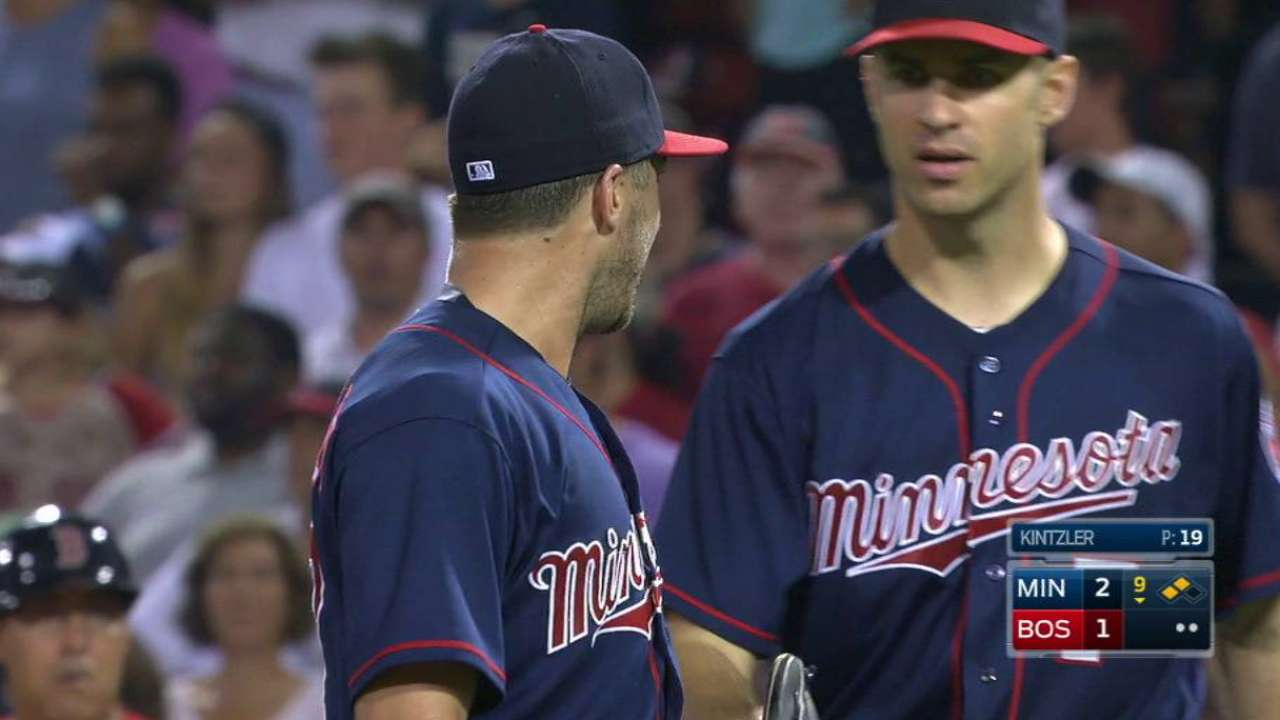 Twins turn crucial double play