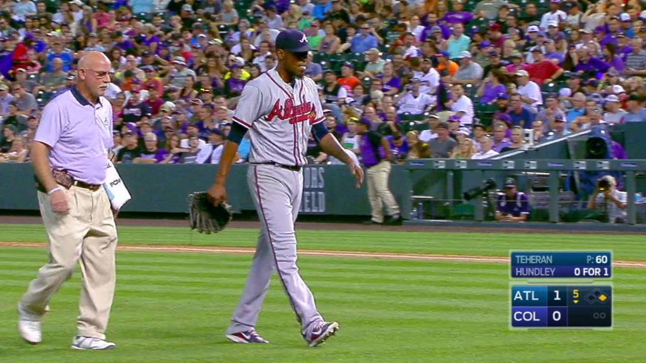 Teheran encouraged day after lat injury