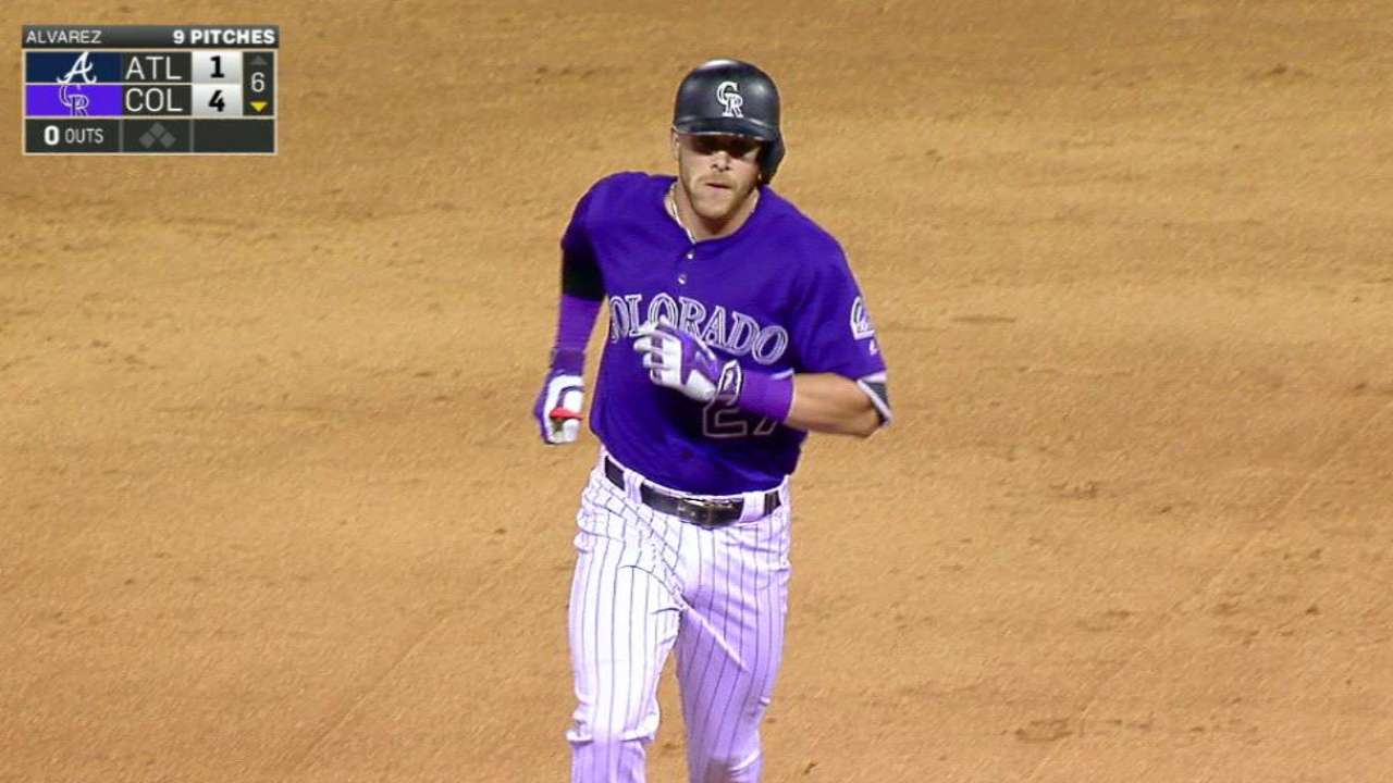 Story ties Tulo's NL rookie SS homer record