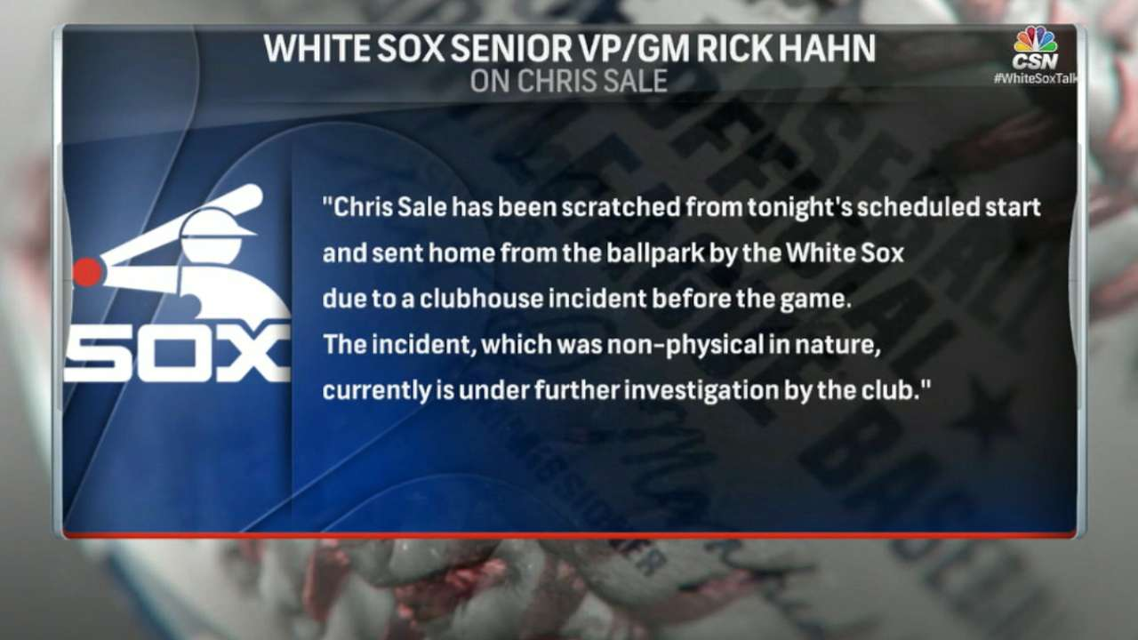 Sale scratched after 'clubhouse incident'