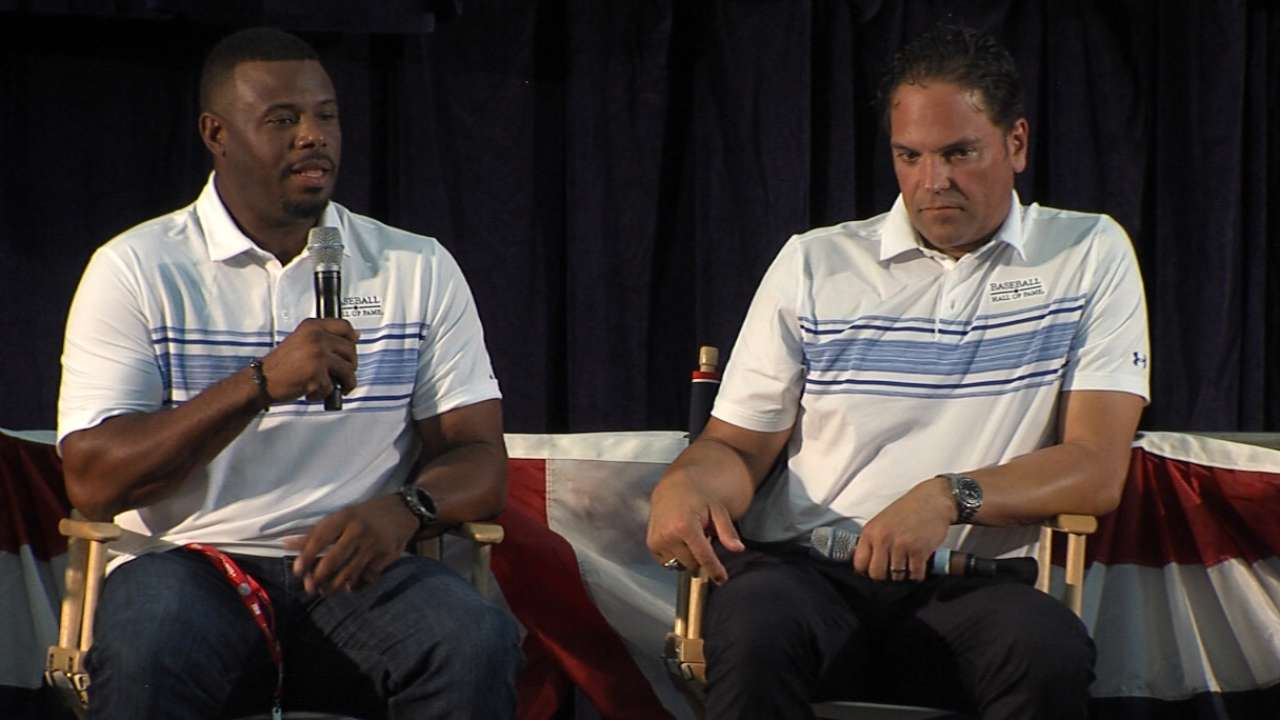 Griffey, Piazza on HOF induction