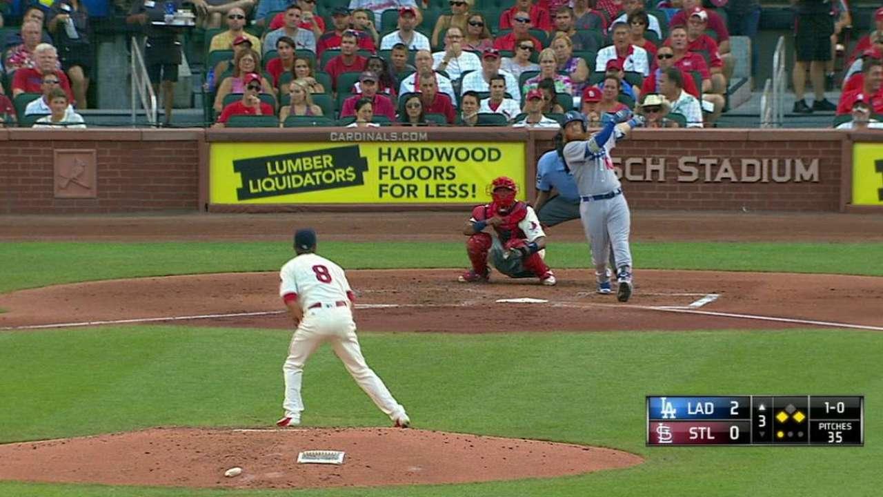 Dodgers get back on track against Cardinals