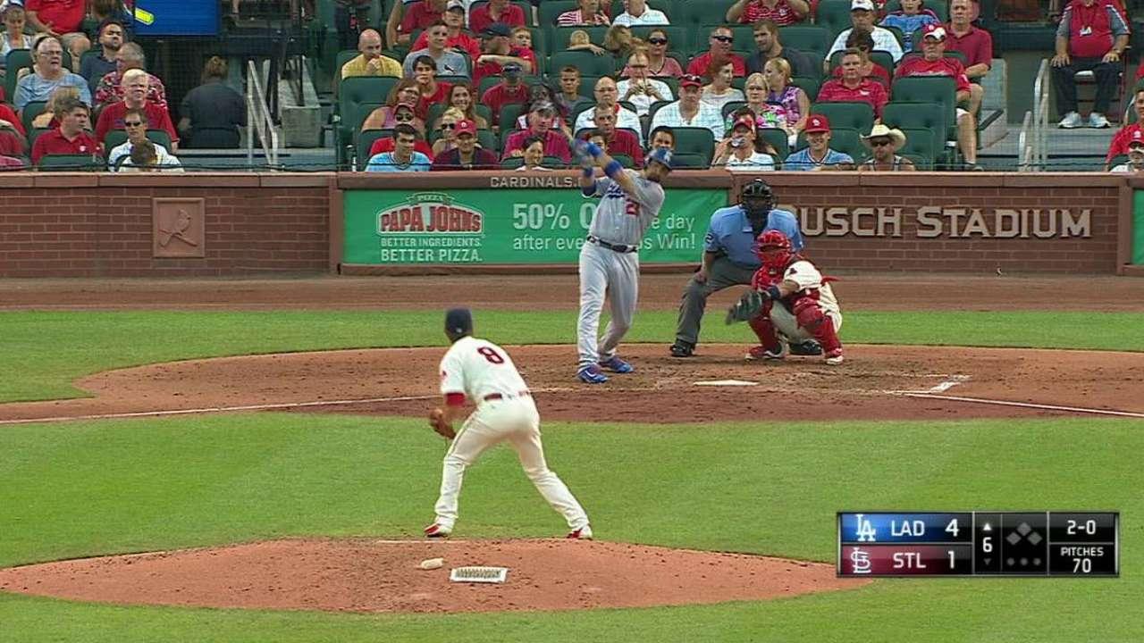 González lució con el madero y Dodgers se imponen a Cardenales