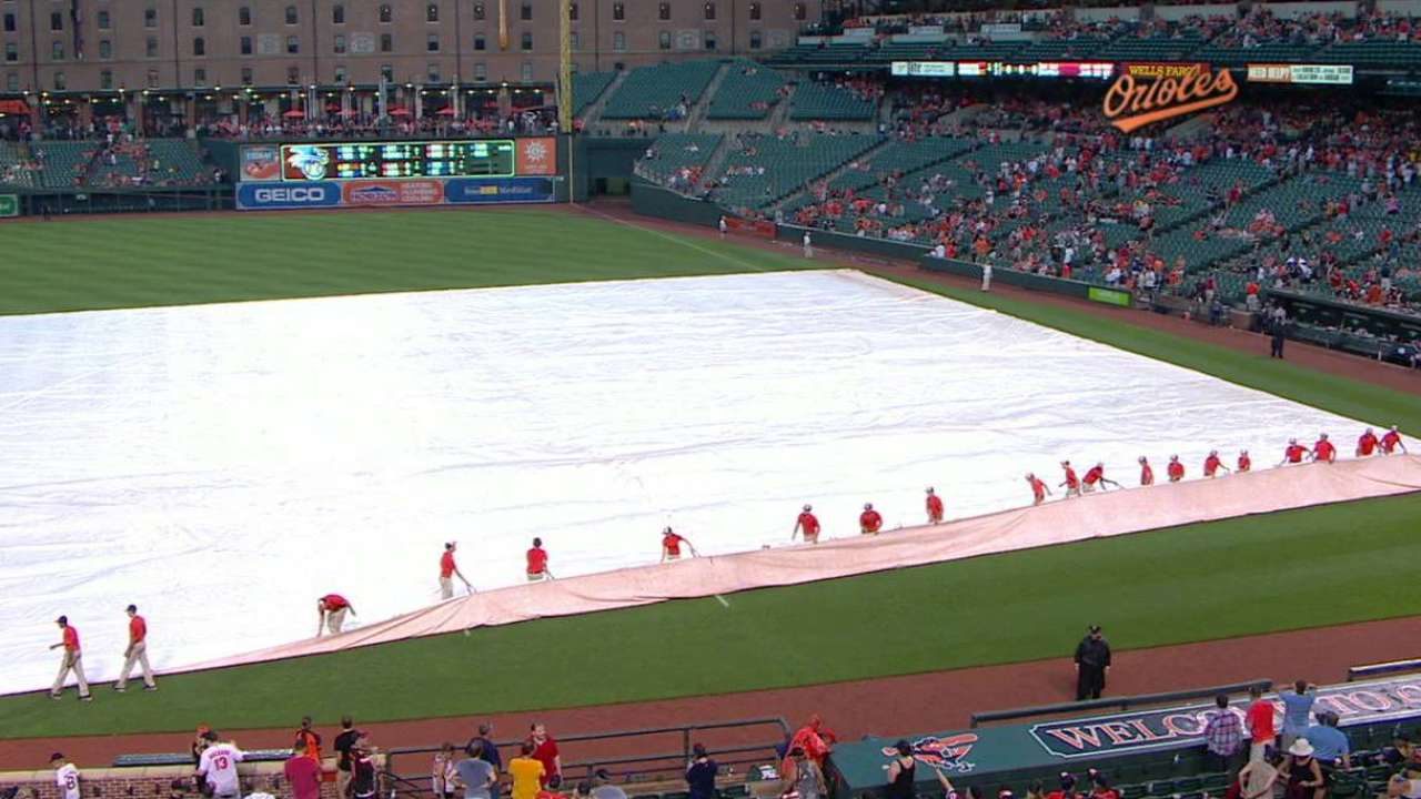 Tarp goes on, tarp comes off