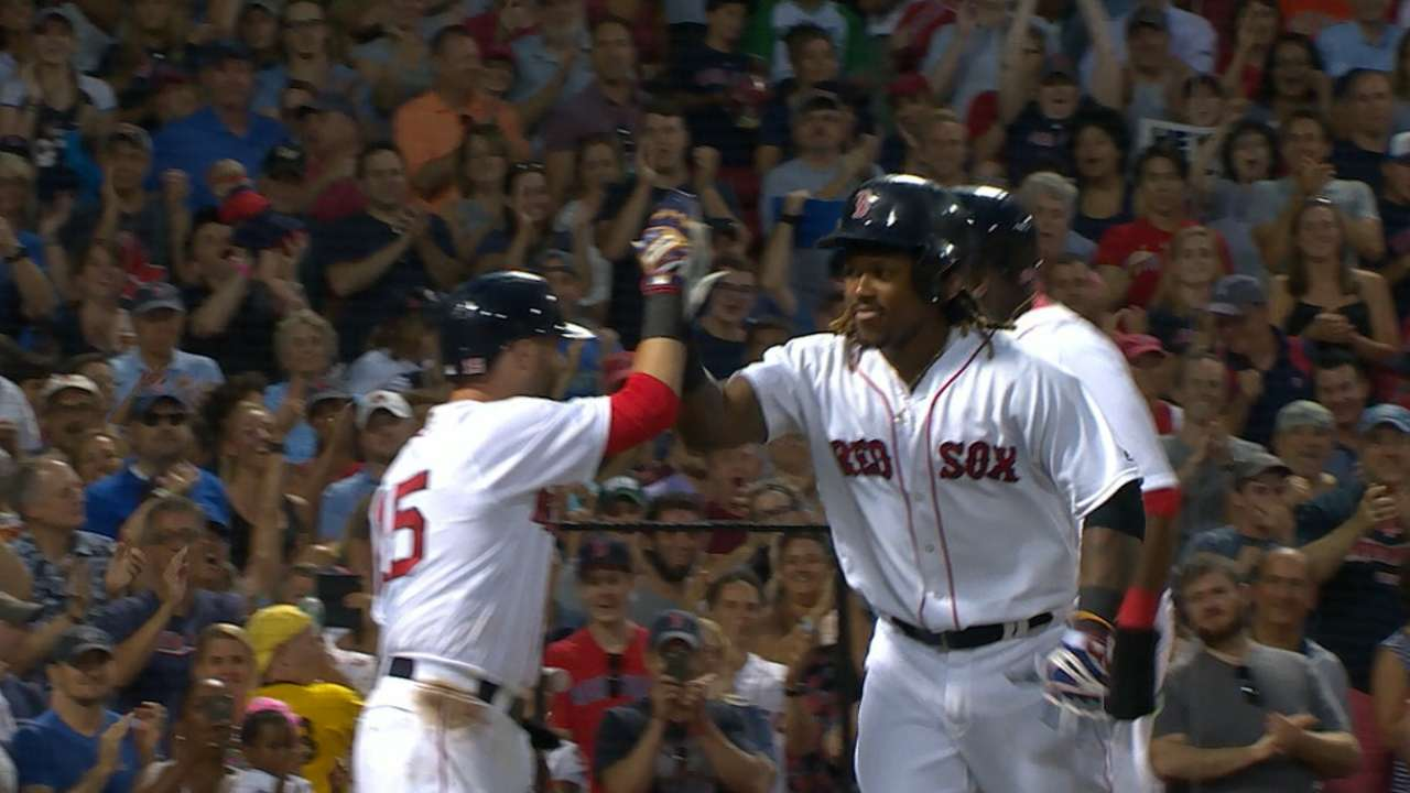 Sox strike for five in the 2nd