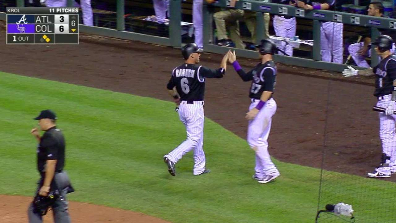 Wolters' bat catching up to his glove