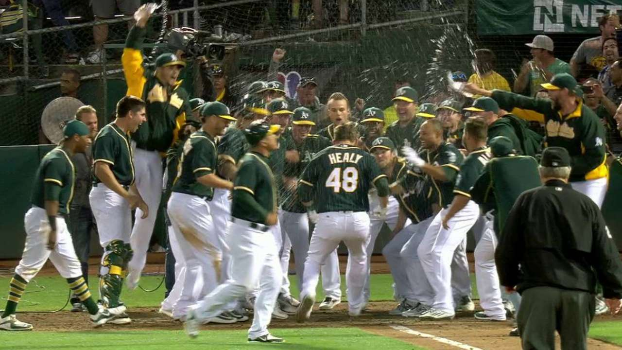 Healy's walk-off dinger